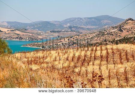 Mountains And Lake Close To Zahara De La Sierra