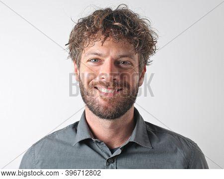 portrait of a handsome caucasian man