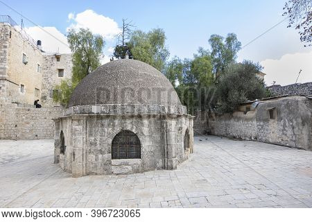 Jerusalem, Israel - November 21st, 2020: The Dome At The Roof Compound Of The Church Of The Holy Sep