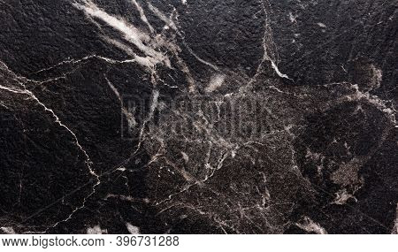 Black Marble Texture Background. Abstract Grunge Texture