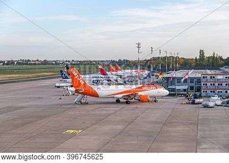 Berlin, Germany - October 22, 2020: Berlin-tegel Otto Lilienthal Main International Airport (due To