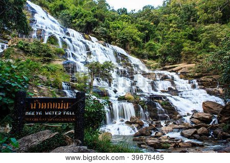 Maeya Water Fall Of Chiangmai Thailand