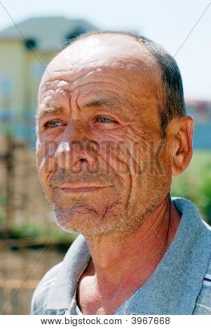 Old Wrinkled Man Portrait