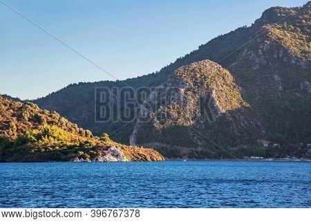Beautiful view of the sea bay near Marmaris, Turkey