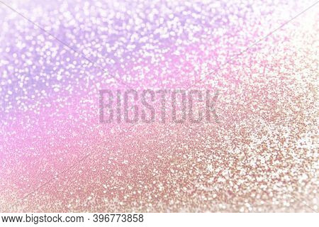 Beautiful Sparkling Background Toned In Unicorn Colors