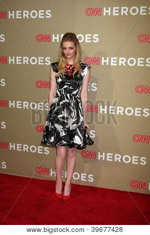 LOS ANGELES - DEC 2:  Lydia Hearst arrives to the 2012 CNN Heroes Awards at Shrine Auditorium on December 2, 2012 in Los Angeles, CA