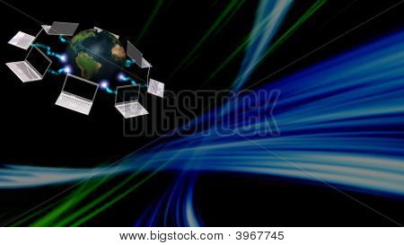 Communication Concept With Abstract Background