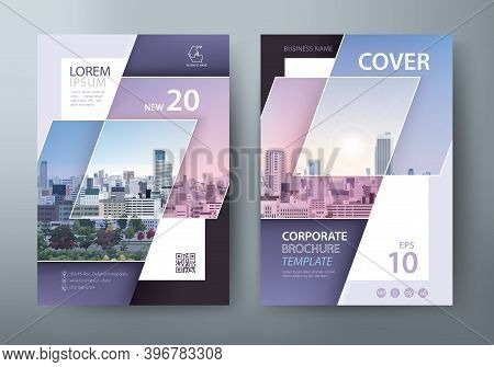 Annual Report Brochure Flyer Design Template Vector, Leaflet Presentation, Book Cover, Layout In A4