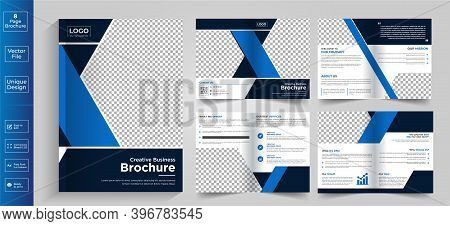 8 Page Brochure,brochure,brochure Layout,newsletter Design,8 Page Brochure Design, Color Brochure De