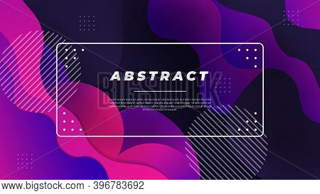 Liquid Color Background Design. Fluid Modern Dark Abstract Background Vector,modern Abstract Backgro
