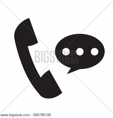 Telephone Receiver Icon On White Background. Phone Receiver Sign. Talking On Phone Symbol. Social Me