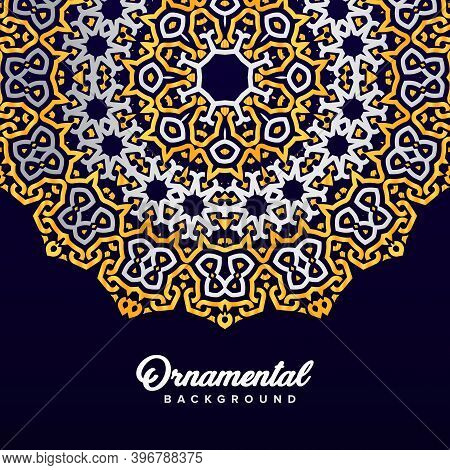 Arabic Ornament Background Baroque In Victorian Style. Element For Design