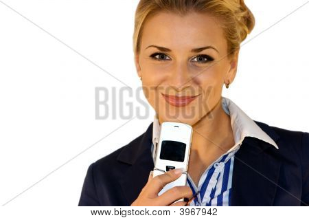Business Lady With Mobile