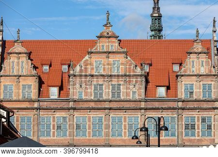 The Green Gate In Gdańsk, Poland,  It Is Situated Between Long Market (dlugi Targ) And The River Mot