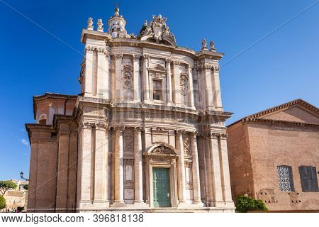 Ruins of the Roman Forum in Rome, Italy