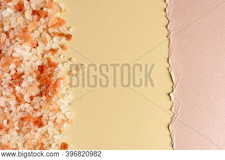 Tiny light pink gravel stones texture with copy space