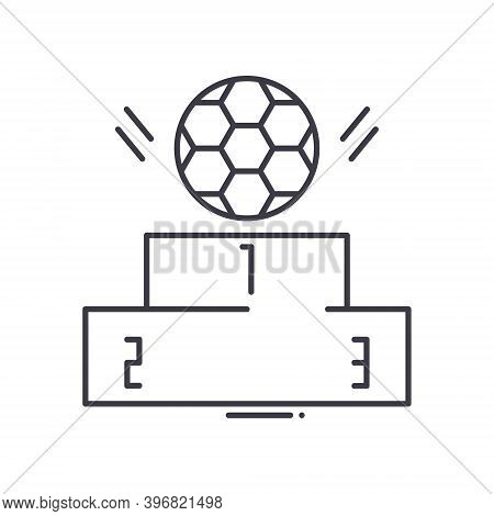 Football Grade Icon, Linear Isolated Illustration, Thin Line Vector, Web Design Sign, Outline Concep
