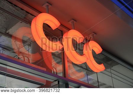 Berlin, Germany - November 14, 2020: Ccc Shoes Sign In Front Of Their Local Shop In Berlin