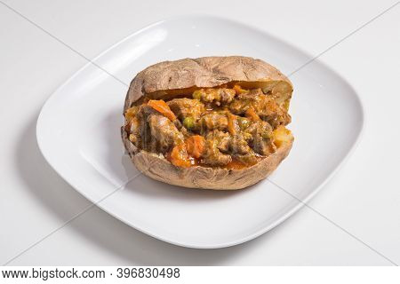 Delicious Spicy Pulled Pork Stuffed Sweet Potato Skin Yam Dish