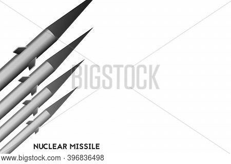 A Nuclear Missile. Vector Illustration Card. Technology War.