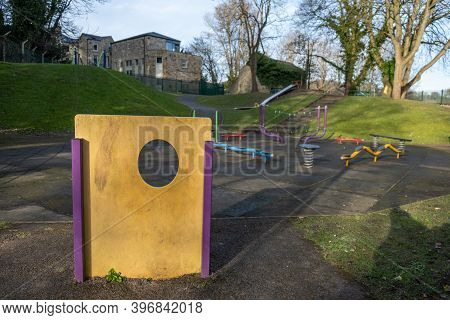 Richmond, North Yorkshire, Uk - March 23, 2020: An Empty Playground As A Result Of The Covid-19 Lock