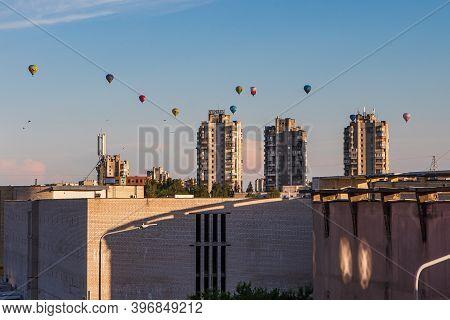 Vilnius, Lithuania - July 16, 2020: Summer Evening Panorama Of Vilnius Fabijoniskes And Seskine Dist