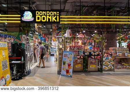 Bangkok Thailand, Nov 14 2020 - Popular Discount Store Don Don Donki (don Quijote)  From Japan Is Op