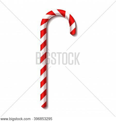 Christmas Candy Cane. New Year. Vector Illustration