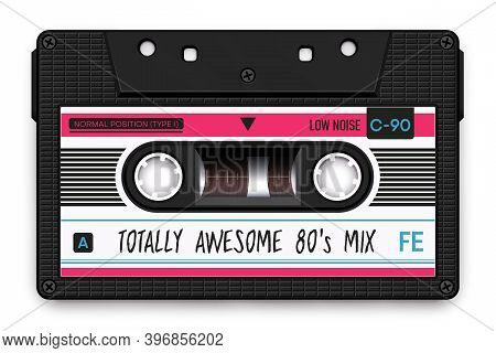 Relistic Black Audio Cassette, Totally Awesome 80s Mixtape