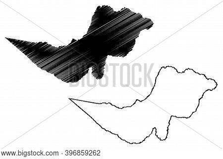 Tharaka-nithi County (republic Of Kenya, Eastern Province) Map Vector Illustration, Scribble Sketch