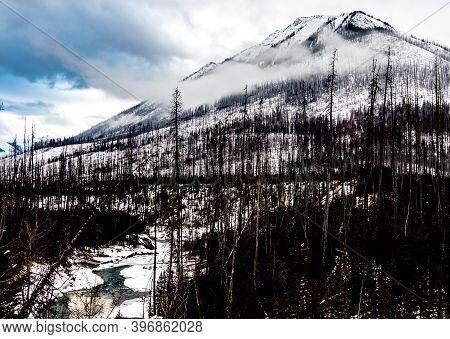 Vermillion Ranges And Floe Creek. Kootney National Park. British Columbia, Canada.