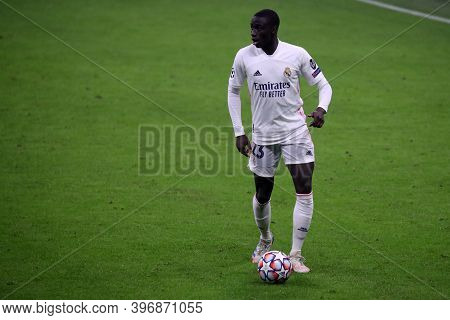 Milano, Italy. 25th November 2020. Ferland Mendy Of Real Madrid Fc   During Uefa Champions League Gr