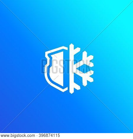 Frost-resistance Sign, Vector Icon, Eps 10 File, Easy To Edit