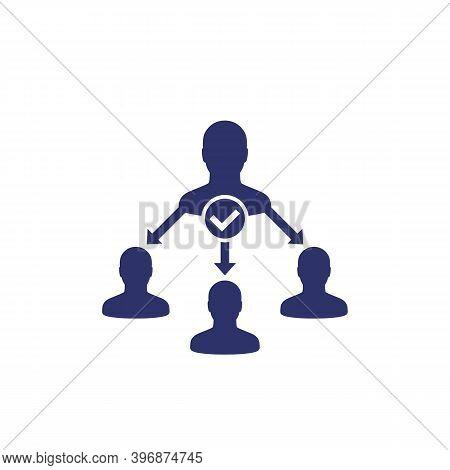Delegate, Task Delegation Icon, Vector, Eps 10 File, Easy To Edit