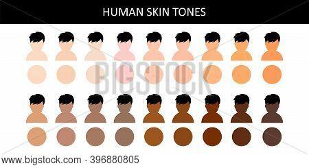 Human Skin Tones. Human Skin Tones. Various Body Skin Color.