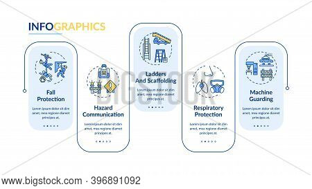 Top Workplace Safety Violations Vector Infographic Template. Fall Protection Presentation Design Ele