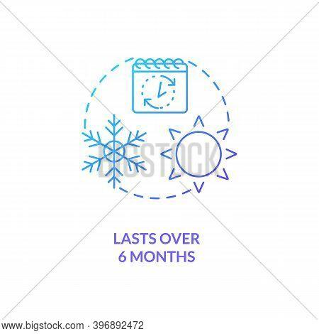 Lasts Over 6 Months Concept Icon. Cfs Symptom Idea Thin Line Illustration. Terminal Illness. Persist