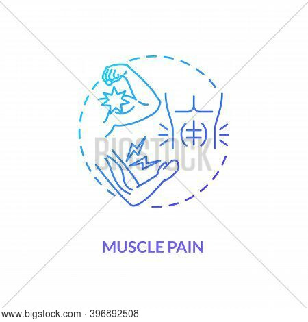 Muscle Pain Concept Icon. Cfs Symptom Idea Thin Line Illustration. Sore And Aching Muscles. Multiple