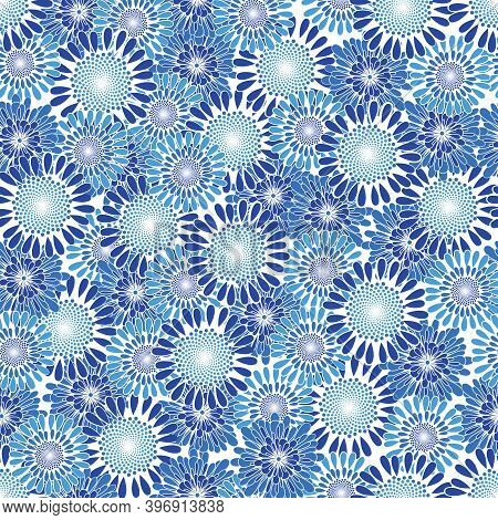 Packed Allover Daisy Non Directional Repeat Pattern