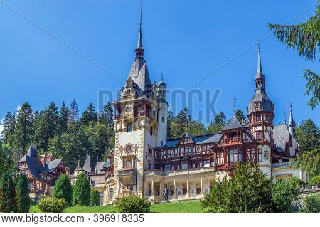 Peleș Castle, A Neo-renaissance Castle In The Carpathian Mountains, Near Sinaia, In Prahova County,