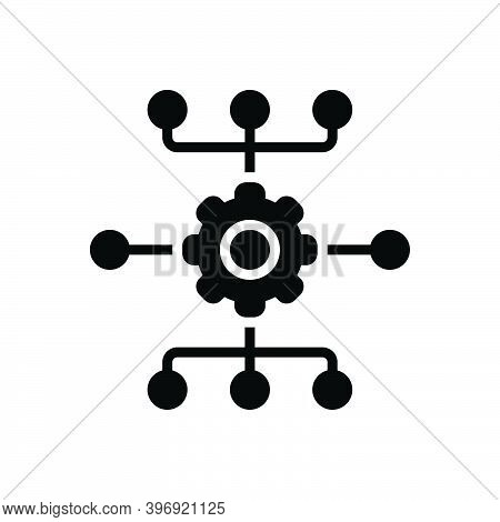 Black Solid Icon For System Mainframe Network Database Information Software Server Engineering App-t