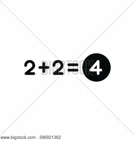 Black Solid Icon For Total Number Equal Sum Addition Add Adding Entire Thorough Overall Exhaustive A