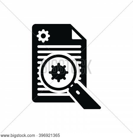 Black Solid Icon For Analyze Examine Inspect Survey Search Analyzing Magnifying Explore