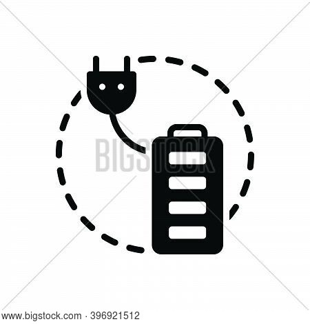 Black Solid Icon For Totally Completely Absolutely Entirely Fully Battery Charge Perfectly Accumulat