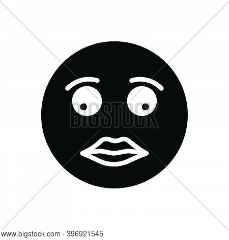 Black Solid Icon For Briefly Concisely Glance Glimpse Scintilla Emoji Shape Sign