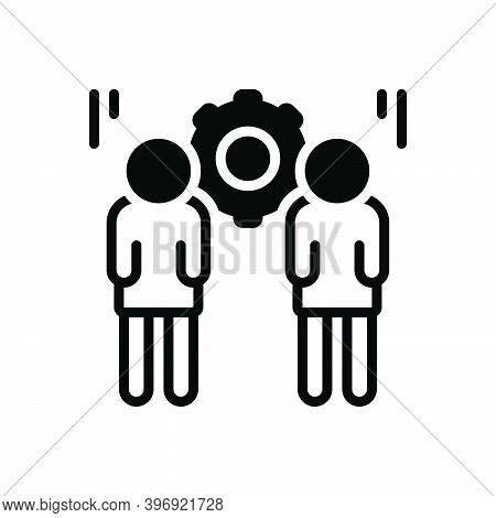 Black Solid Icon For Responsible Colleague Corporate Responsive Liable Accountable Trustworthy Peopl