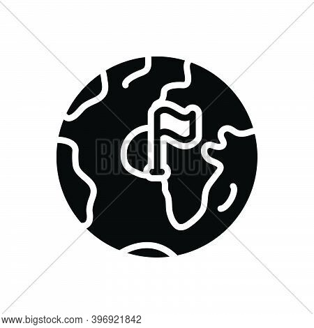 Black Solid Icon For County Territory Region Province Shire Constituency Continent Globe Boundary Ge
