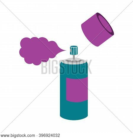 Aerosol Can With Propane Paint Gas. Vector
