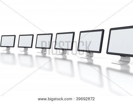 Row Of Monitors