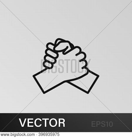 Hands, Greet, Shaking, Fingers Outline Icons. Can Be Used For Web, Logo, Mobile App, Ui, Ux